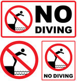 No Diving Sign vector Stock Photography