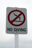 No diving signage Stock Photography