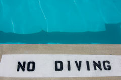 No diving warning sign Stock Photos