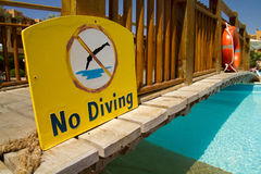 No diving Stock Photography