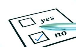 No. do voto Foto de Stock Royalty Free