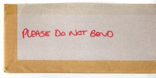 No doble por favor Imagen de archivo libre de regalías