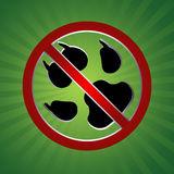 No dog. In green color retro background eps Stock Photo