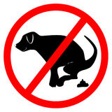 No dog dung Stock Photo