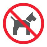 No dog glyph icon, prohibition and forbidden