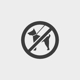 No dog icon in a flat design in black color. Vector illustration eps10 Stock Photos