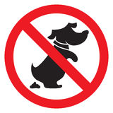 No dog poo sign Stock Image