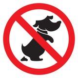 No dog poo sign. Vector illustration of the no dog poo sign Stock Image