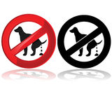 No dog poop allowed Royalty Free Stock Photography
