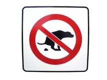 No dog poop sign Royalty Free Stock Photo
