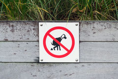 No Dog Poop Sign Royalty Free Stock Images