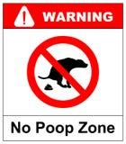No dog poop  sign illustration on white background royalty free illustration