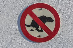 No dog poop sign. Is not allowed, no poo poo royalty free stock images