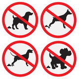 No dog poop sign Stock Image