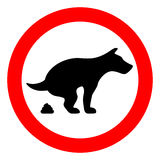No dog poop vector sign. Illustration Royalty Free Stock Image