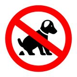 No dog poop vector sign. Isolated on white background Stock Images