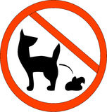 No Dog Poop Zone Sign. Keep your area clean and free of dog excrements vector illustration