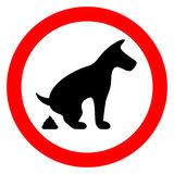 No dog pooping restricted sign Royalty Free Stock Photos