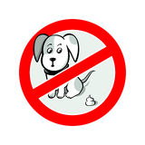 No dog's pooh sign Royalty Free Stock Image