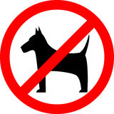 No dog, sign Royalty Free Stock Photography