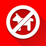 No dog sign icon great for any use. Vector EPS10. Royalty Free Stock Images