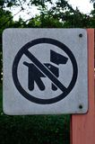 No Dog sign icon. Pets not allowed symbol Stock Image
