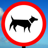 No dog walking allowed Stock Image