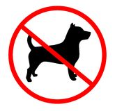 No dogs. Signal indicating zone for dogs Stock Image