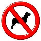 No dogs 3d sign Royalty Free Stock Photography