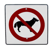 No dogs allowed. Sign Royalty Free Stock Images