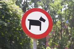 No dogs allowed. A ''no dogs allowed'' sign stock photography