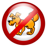 No dogs allowed. Vector illustration, signboard forbid Vector Illustration