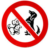No dogs allowed Royalty Free Stock Photography