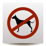 No dogs allowed. Dog prohibition icon royalty free illustration
