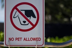 No dogs allowed sign. Stock Photo