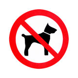 No dogs allowed Stock Photo