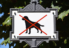 No dogs allowed sign Royalty Free Stock Photo