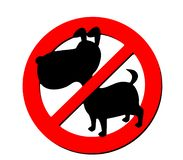 NO dogs allowed sign vector illustration