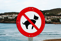 No dogs allowed traffic sign Royalty Free Stock Photography