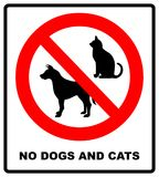 no pets allowed sign. round red no pets isolated illustration