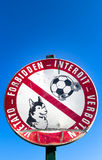 No dogs and football play Stock Photo