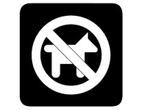 No dogs inverted Royalty Free Stock Image