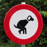 No dogs mess sign