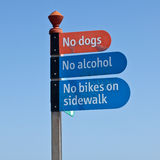No dogs, no alcohol Stock Photos