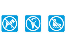 No dogs, no ice cream, no rollers Stock Photography