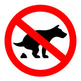 No dogs poop vector sign. Isolated on white background Royalty Free Stock Photography