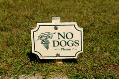 No Dogs Sign Royalty Free Stock Image