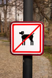 No Dogs Sign Stock Photography