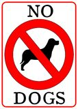 No Dogs Sign. Isolated in white Stock Image
