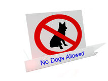 No Dogs sign. No Dogs allowed, computer generated sign Vector Illustration